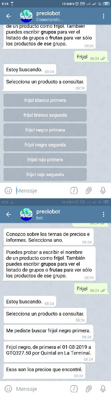 Chatbot de precios en Telegram